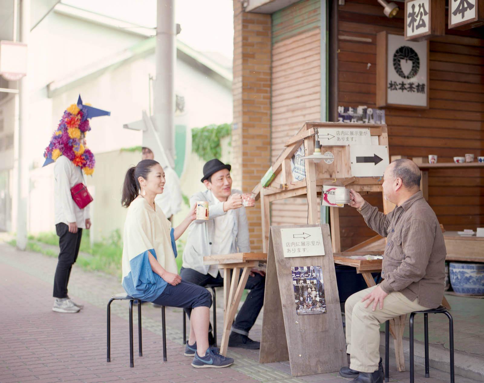 松本茶舗にて